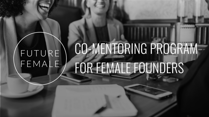 Future Female & Fondia presenting: co-mentoring program for female founders